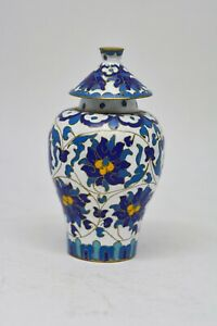 Antique Chinese Chinese Miniature Cloisonn Vase 3 75 Inches Tall