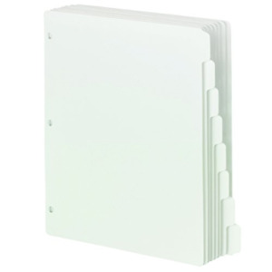 Smead Three ring Binder Index Dividers 1 8 cut Tab Letter Size White 96 Per