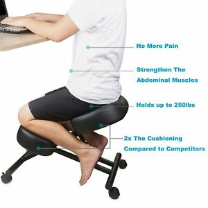 Dragonn Ergonomic Kneeling Chair Adjustable Stool For Home And Office New