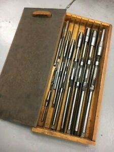 Adjustable Reamers Vintage Keystone Reamer T Co 9 Piece Set With Wooden Case