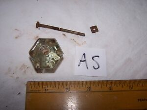 Vintage Antique Glass Door Drawer Knob Pull Lot As