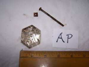 Vintage Antique Glass Door Drawer Knob Pull Lot Ap