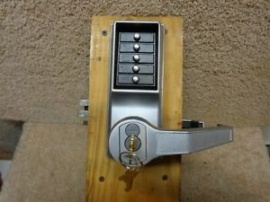 Kaba Simplex R8100 Mortise Pushbutton Lock Over Ride Core Installed W keys