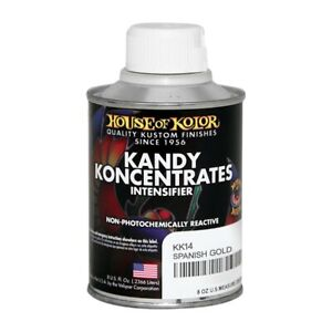 House Of Kolor Kk14 C02 Spanish Gold Kandy Koncentrate Intensifier 1 2 Pint