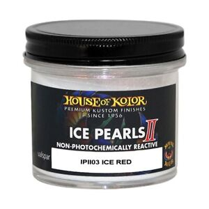 House Of Kolor Ipii03 C01 Ice Pearls Red Ii Custom Sparkle Effect 2 Oz