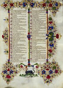 Bible Of Borso D Este Illuminated Manuscript Accented In Gold New