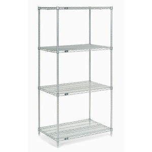 Chrome Wire Shelving 36 w X 18 d X 86 h Lot Of 1