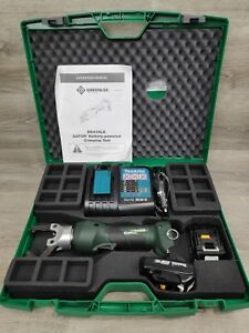 Greenlee Gator Ek410lx 4 ton 18v Li ion Cordless In line Crimper 12 Volt Charger