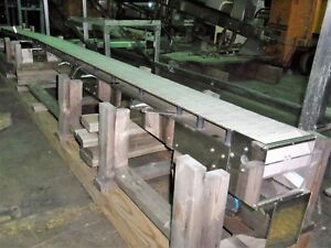 Stainless Steel Slat Top Conveyor 7 5 Inches Wide X 16 Ft Long