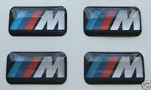 4 Bmw M Wheel Badge Sticker Logo E36 E39 E46 E90 M3 M5