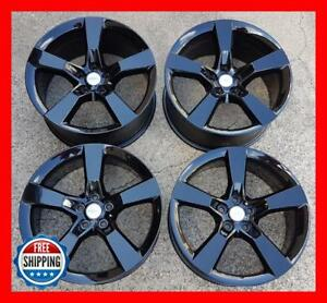 Chevy Camaro Ss 2010 2015 Oem Factory Wheel Set 20 Rims 5529 5531 Black S