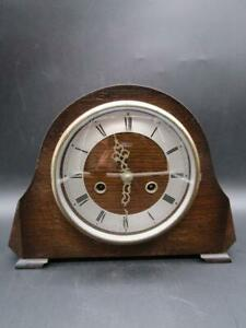 Vintage Small Smith Enfield Mantle Clock Parts Or Repair