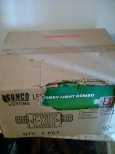 4 Pack Ul Listed Single double Face Led Combo Emergency Exit Sign With 2 Head