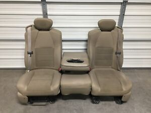 1999 2016 Ford F250 F350 F450 Super Duty Extended Cab Front Seats Tan Cloth