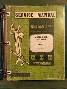 International H 65c Pay Loader Shop Service Repair Manual