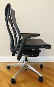 Herman Miller Embody Office Chair Charcoal Fabric Graphite Frame