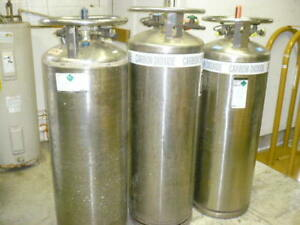 Liquid Nitrogen Carbon Dioxide Stainless Tank Dewar Lot Of 3