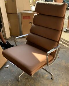 Herman Miller Eames Soft Pad Lounge Chair Leather Executive Aluminum New In Box