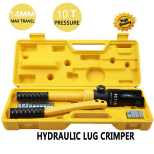 Lumsing Quick Hydraulic Pliers Wire Cable Lug Terminal Crimper Tool 10 Ton