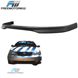 Fits 05 06 Toyota Corolla Tr Style Front Bumper Lip Black Pp