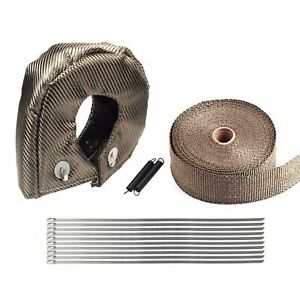 T3 Titanium Turbo Heat Shield Blanket Cover 2 50ft Exhaust Header Wrap Tape