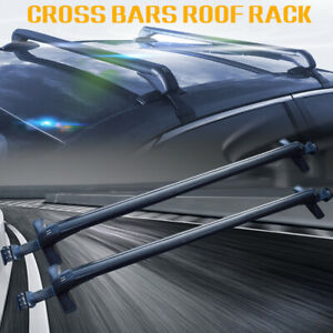 Universal Car Top Roof Rack Rail Cross Bars Luggage Carrier Mount For Suv Truck
