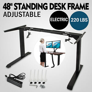 Electric Standing Desk Frame Sit Stand Table Adjustable Us Stock 70 9 Width