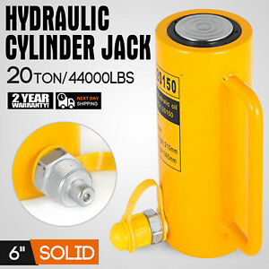 44000lbs 6 Stroke Hydraulic Cylinder Jack Single Acting 20t Straightening