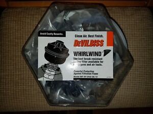 Counter Display Of 12 Devilbiss Haf507 Whirlwind In Line Spray Gun Air Filter