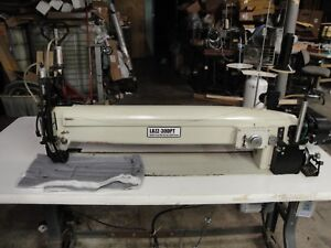 Galkin Lazz 30dpt Long Arm Zig zag Label Sewing Machine With Puller