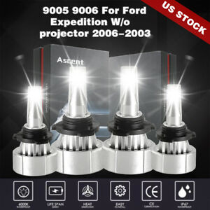 9005 9006 Led Headlight Kit Bulb For Ford Expedition Wo projector Toyota Matrix