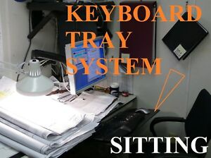 Humanscale Keyboard Tray System For Desk W sit stand Positioning