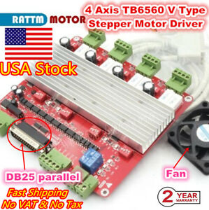 in Usa high Speed 4 Axis Stepper Motor Cnc Mach3 Controller Board Tb6560 V Type