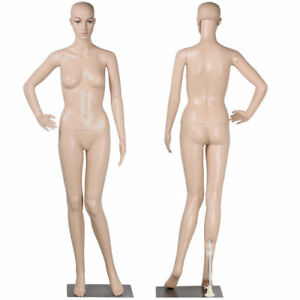 5 7ft 176cm Female Full Body Realistic Mannequin Display Head Turns Dress Form