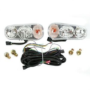 Universal Halogen Snow Plow Lights Kit Fits Boss Western Meyer Blizzard Curtis