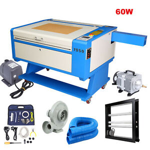 80w Co2 Laser Engraving Cutting Machine 700x500mm Red Dot Pointer Regular Rotary