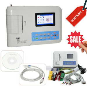 Electrocardiograph 3 Channel 12 Leads Ecg Machine With Pc Analysis Software Fda