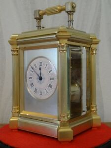 Substantial Heavy Henri Jacot Repeater Carriage Clock 1875 78 Fully Restored