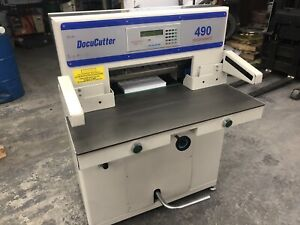 Duplo Docucutter 490 Pro Hydraulic Paper Cutter Shear Hydraulic Refurbished 19