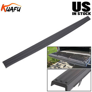 For 2009 2014 Ford F150 Tailgate Top Protector Spoiler Cover Moulding Cap Black
