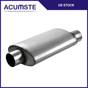 Straight Through Performance Resonator Exhaust Mufflers Center 3 In Out Offset