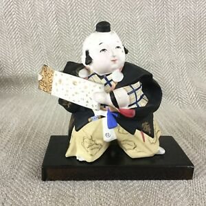 Vintage Japanese Doll Figure Gofun Clay Pottery Figurine Ornament