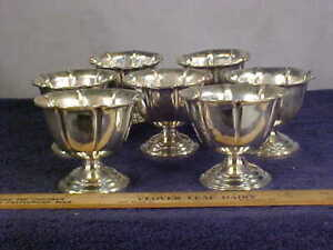 Set Of 7 Webster Sterling Silver Sherbet Ice Cream Cups