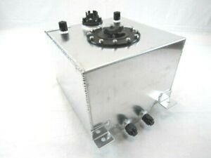 Universal Aluminum 5 Gallon Fuel Cell W Sending Unit Polished Bpf 1002