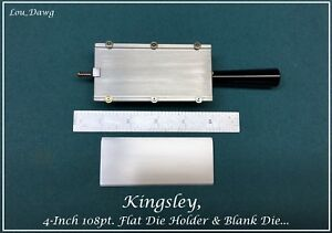Kingsley Machine 4 inch 108pt Flat Die Holder Hot Foil Stamping Machine