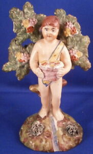 Antique Erly 19thc Staffordshire Creamware Putto Figurine Figure English England