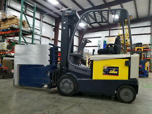 2010 Crown Fc4500 Fc4525 50 Forklift W Cascade Clamp 5000lb Electric