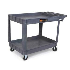 Wen Heavy Duty Service Utility Cart Mobile Tool Storage Station 46 X 33 5 In