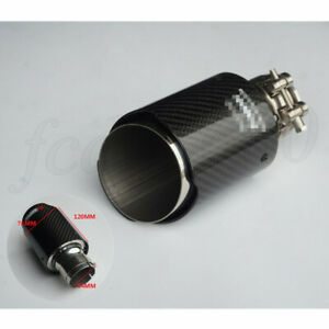 Glossy Carbon Fiber Exhaust Tip Car Muffler Pipe 2 1 54mm Inlet 3 76mm Outlet