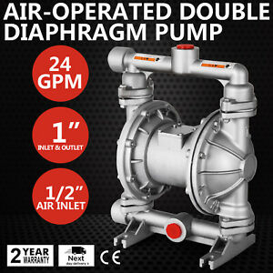 Air operated Double Diaphragm Pump 24 Gpm Double Diaphragm 1 2in Air Inlet